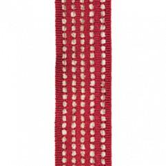 Material 17396 Chenille Stripe/Garnet