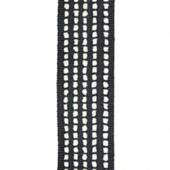 Material 17399 Chenille Stripe/Onyx